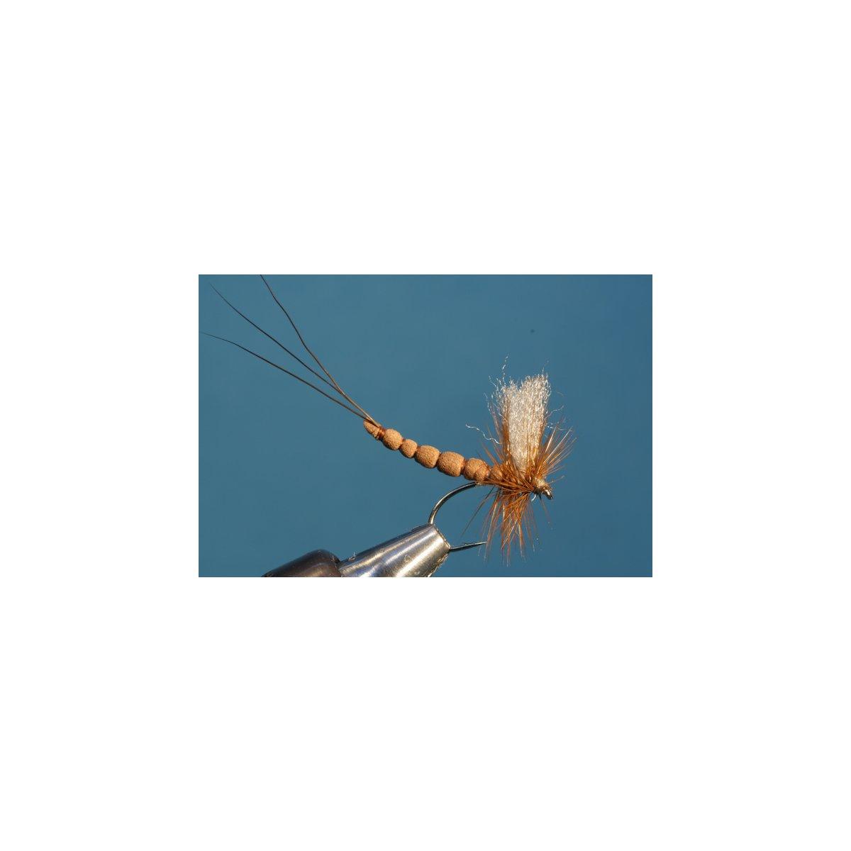 Fliegentom  3 Stück Schwarze struppige Hasenohrnymphe