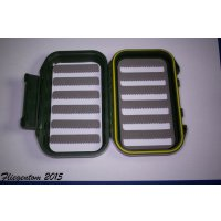 Fliegentom kleine, doppelseitige Fliegenbox mit Mikroschlitzen