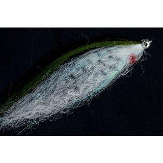 Hechtstreamer / Raubfischstreamer - grün weißer Fisch