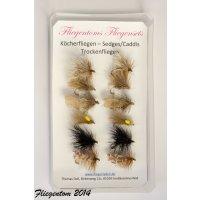 Trockenfliegenset Köcherfliegen Sedge/Caddis