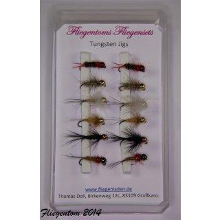 Fliegenset Tungstenjigs - Nymphen