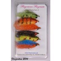 Streamerset Fischchen 1 -  8 mit Widerhaken