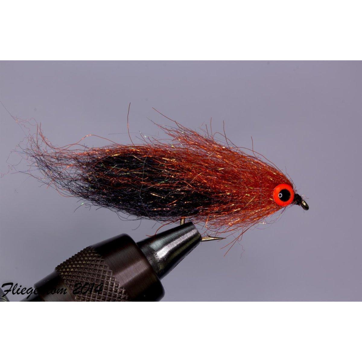 Fliegentom 3 Stück Fischchenstreamer Teufel glänzend