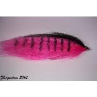 XXL Streamer für Hecht und Raubfische - Hot Pink Tiger