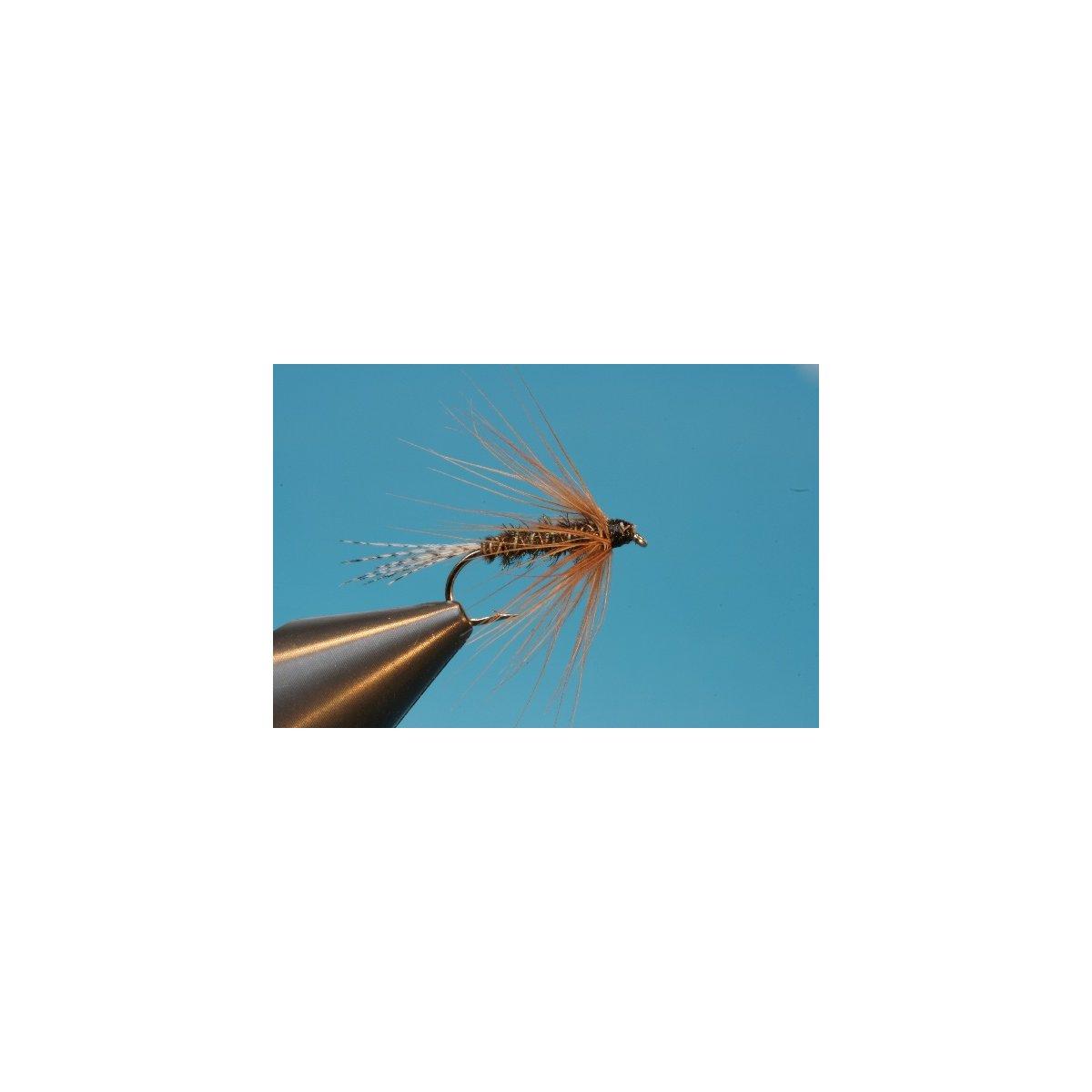 Fliegentom 3 Stück Nassfliege Dicke Pfauenfiber Softhackle