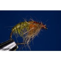 struppige Czech Nymph  Nr.36 oliv/orange