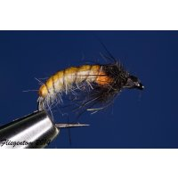 Czech Nymph  Nr.57 creme/orange/schwarz