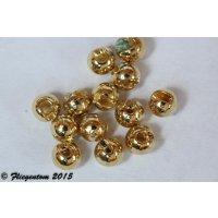 Tungstenperlen geschlitzt Goldfarben
