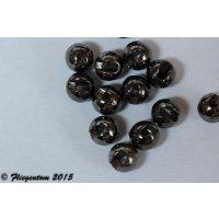 Tungstenperlen geschlitzt, Black Nickel