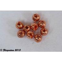 Tungstenperlen geschlitzt Kupferfarben, 20 Stück
