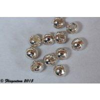 Tungstenperlen geschlitzt Silberfarben, 20 Stück