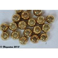 Tungstenperlen Goldfarben 20 Stück