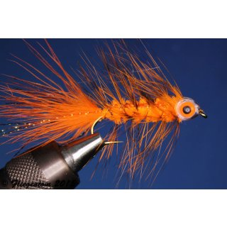 Fishmask Wooley Bugger orange grizzly