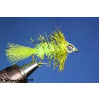 Fishmask Wooley Bugger Krystal chartreuse grizzly