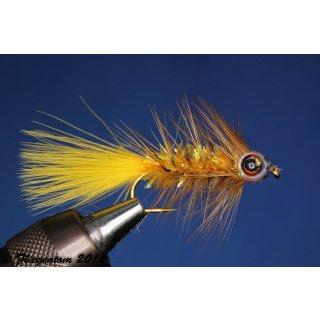 Fishmask Wooley Bugger Krystal bernsteinfarbig