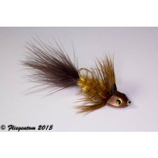 Wooley Bugger Koppe - amber, krystal