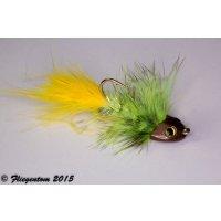 Wooley Bugger Koppe - chartreuse, krystal