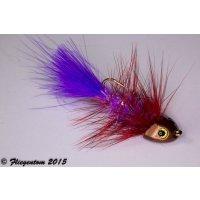 Wooley Bugger Koppe - violett, rot, Krystal