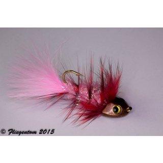 Wooley Bugger Koppe - pink, Krystal
