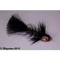 Wooley Bugger Koppe - schwarz Krystal #6 - ca. 5cm