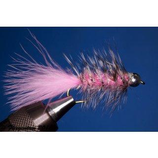 Wooley Bugger mit Kopfperle Pink Krystal