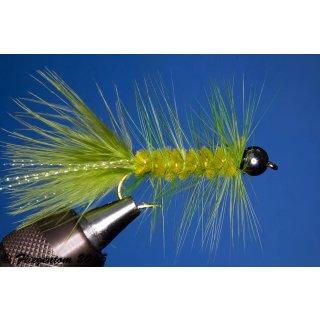 Wooley Bugger mit Kopfperle grün