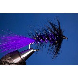 Wooley Bugger violett/schwarz Krystal