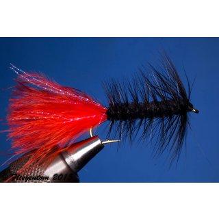 Wooley Bugger schwarz/rot