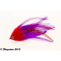 Hechtstreamer / Raubfischstreamer Nr.30 - Rot, Violett