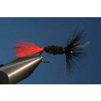 Schwarze Behm Trockenfliege ohne Widerhaken 12