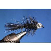 Fishmask Wooley Bugger schwarz  6 mit Widerhaken