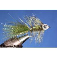 Fishmask Wooley Bugger dunkeloliv 6 mit Widerhaken