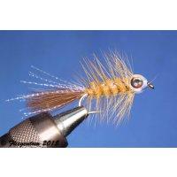 Fishmask Wooley Bugger hellbraun 8 ohne Widerhaken