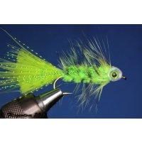 Fishmask Wooley Bugger chartreuse 6 mit Widerhaken