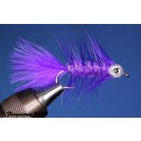 Fishmask Wooley Bugger violett 8 mit Widerhaken