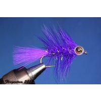 Fishmask Wooley Bugger Krystal violett 6 mit Widerhaken