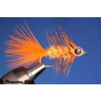 Fishmask Wooley Bugger Krystal orange grizzly 4 ohne...