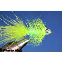 Fishmask Wooley Bugger Krystal chartreuse 8 mit Widerhaken
