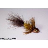 Wooley Bugger Koppe - amber, krystal #4 - ca. 6,5cm