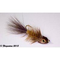 Wooley Bugger Koppe - hellbraun #4 - ca. 6,5cm