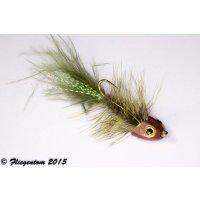 Wooley Bugger Koppe - dunkeloliv #4 - ca. 6,5cm