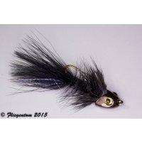Wooley Bugger Koppe - schwarz #6 - ca. 5cm