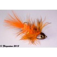 Wooley Bugger Koppe - orange #4 - ca. 6,5cm
