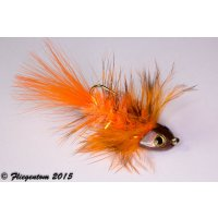 Wooley Bugger Koppe - orange #6 - ca. 5cm