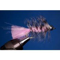 Wooley Bugger mit Kopfperle pink 8 ohne Widerhaken