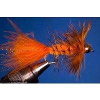Wooley Bugger mit Kopfperle orange 8 ohne Widerhaken
