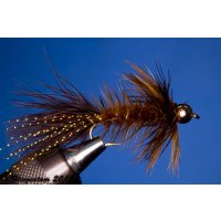 Wooley Bugger mit Kopfperle braun 10 ohne Widerhaken