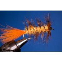 Wooley Bugger orange Krystal 6 ohne Widerhaken