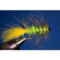 Wooley Bugger gelb/chartreuse Kyrstal 4 mit Widerhaken