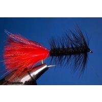 Wooley Bugger schwarz/rot 4 mit Widerhaken